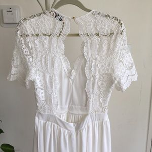 4b6cd8e0980 ASOS Dresses - Club L Short Sleeve Crochet Lace Maxi Dress V Neck